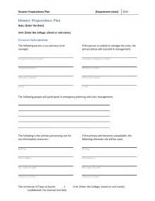 Emergency Plan Template For Businesses by Disaster Preparedness Plan Template