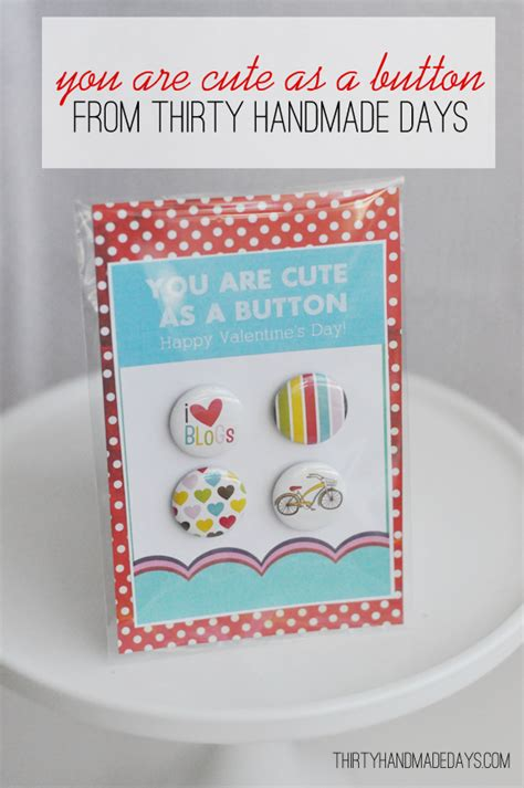 30 Handmade Days - valentines you are as a button