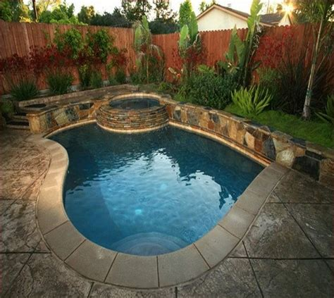 images  small inground pool spa ideas  pinterest