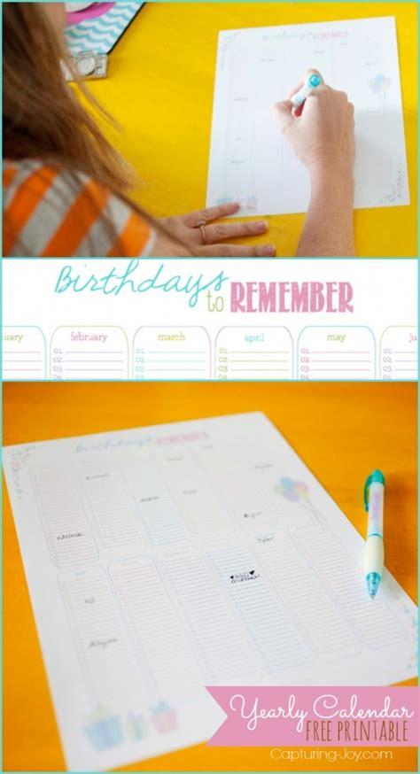 free printable yearly birthday calendar free printable yearly birthday calendar search results