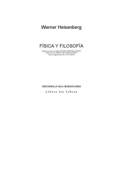 Fisica cuantica heisenberg werner física y filosofia by