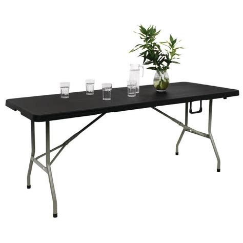 Folding Utility Table by Bolero Centre Folding Utility Table 6ft Black Buffet