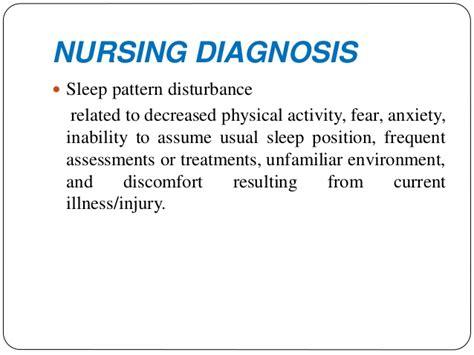 disturbed sleeping pattern nanda definition sleep disorders