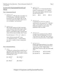 Exponential Growth And Decay Worksheet Answer Key