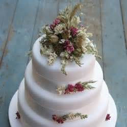 cake flower decorations rustic dried flower wedding cake decoration by the artisan