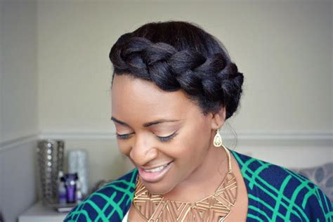 crown twist braid on african hair quick easy crown braid tutorial for natural hair