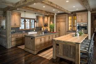 rustic wood countertops kitchen rustic with beige wall black counter beeyoutifullife com