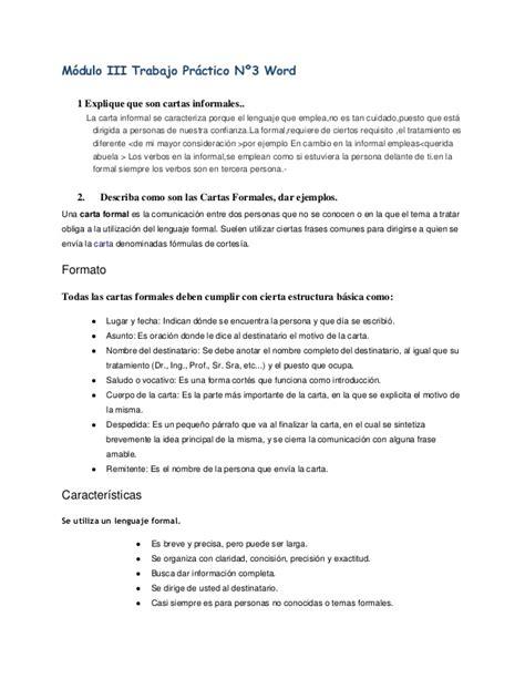 Carta Formal Varias Personas Copia De Trabajo Practico N 176 3copia
