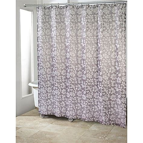 avanti shower curtains buy avanti branches shower curtain in silver from bed bath