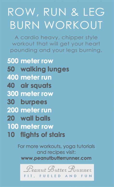 row run burn cardio leg workout peanut butter runner