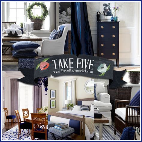 navy blue home decor take five the color navy in home decor the cottage market