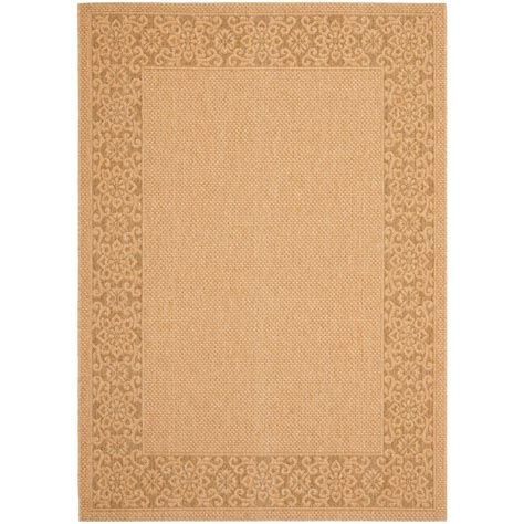 home depot indoor outdoor rug safavieh courtyard gold 4 ft x 5 ft 7 in indoor outdoor area rug cy6011 39 4 the