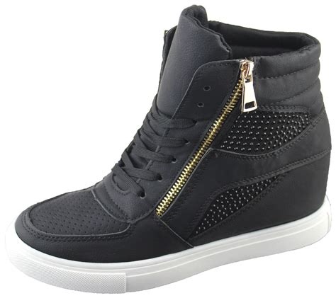 high ankle sneakers womens wedge trainers ankle boots sneakers
