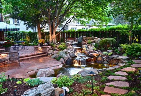 backyard garden 75 relaxing garden and backyard waterfalls digsdigs