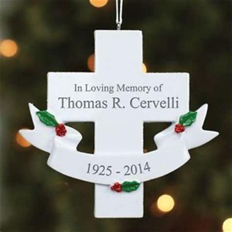 personalized in loving memory memorial cross christmas