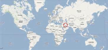 Kuwait On World Map by Information Of Kuwait