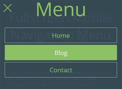 css tutorial mobile fullscreen mobile navigation menu with jquery and css3