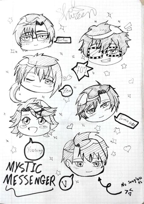 doodle draw fb messenger mystic messenger chibi by hanahope on deviantart