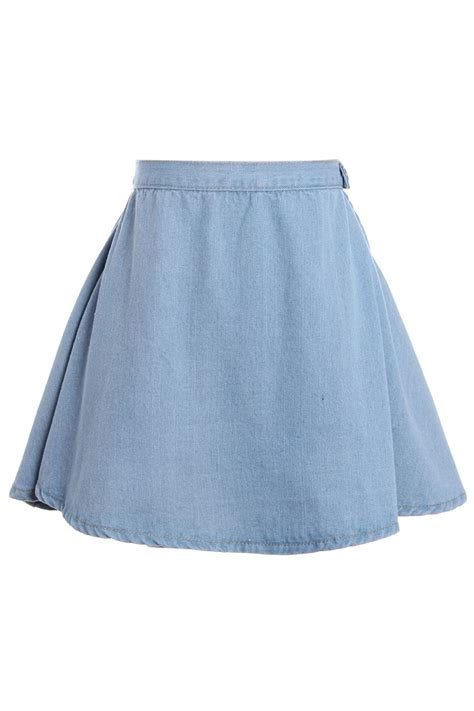 Highwaist Lightblue light blue high waisted skirt skirt ify