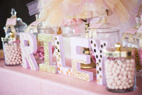 Gold Baby Shower by Shimmering Pink And Gold Baby Shower Baby Shower Ideas