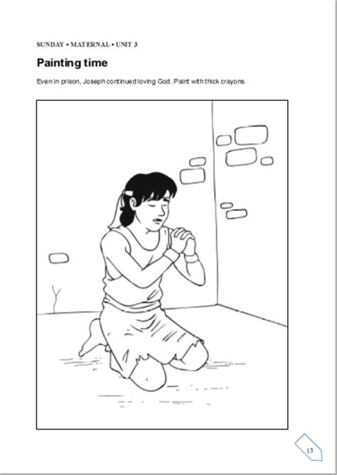 Children Biblical Centre Cbc Cbc Lesson From 17th To Joseph In Prison Coloring Pages
