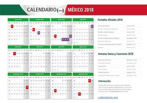 Calendario 2018 Mexico Para Imprimir Calendario 2018 M 201 Xico Todos Los Feriados Y Festivos En