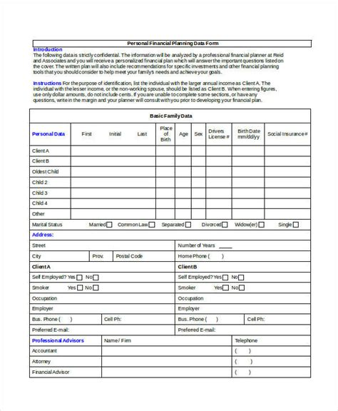 personal investment plan template 35 sle plan templates