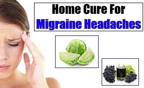 how to cure migraine headache naturally home remedies