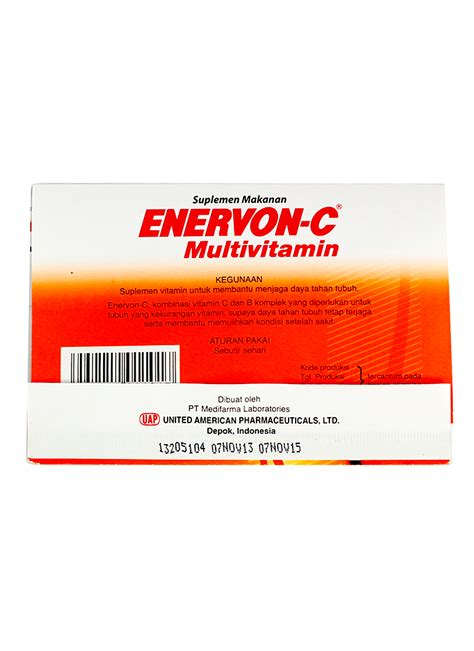 Kompor Vit enervon c vitamin 4 s tablet pck klikindomaret