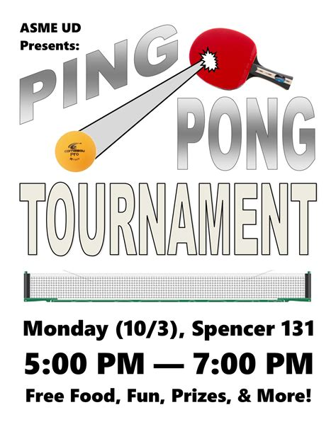 Christopher Asme Ud Ping Pong Tournament Flyer Template