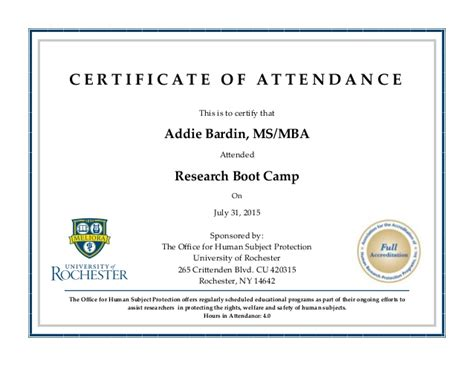 certificate of attendance conference template addiebardin certificate of attendance boot c