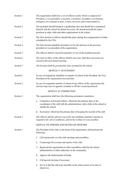 booster club bylaws template club bylaws template template for a memorandum