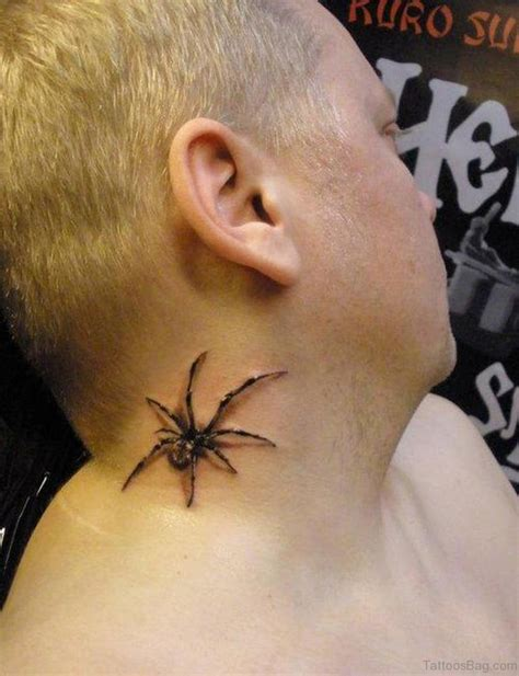small spider tattoos 49 snazzy spider tattoos on neck