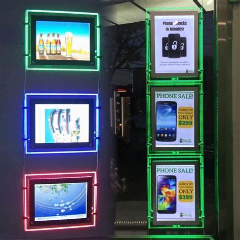 hanging light box display rgb hanging led window display