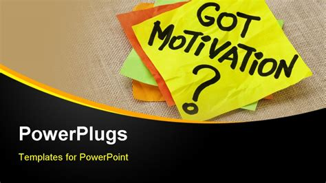 powerpoint template motivation post it sticky notes on