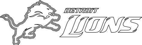 coloring pages detroit lions detroit lions logo pictures az coloring pages