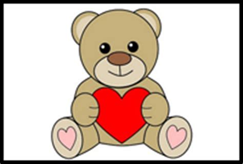 valentines teddy drawing how to draw teddy bears with hearts with easy step by step