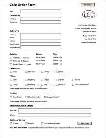 cake order form template free besttemplates123
