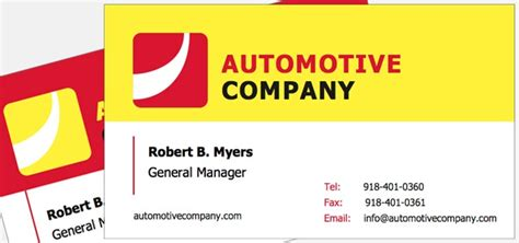 business card template publisher free business card automotive company theme istudio