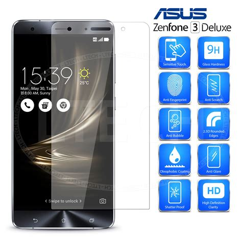 Tempered Glass Asus Zenfone 3 55 Inch Screen Protect Berkualitas asus zenfone 3 deluxe zs570kl transparent tempered glass screen protector ebay