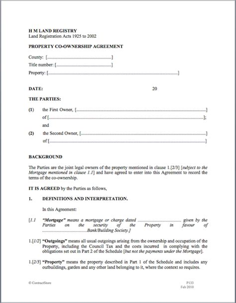 joint tenancy agreement template doc 696900 property management agreement sle in word