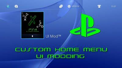 ps4 themes extreme ps4 custom home menu ui modding database information by