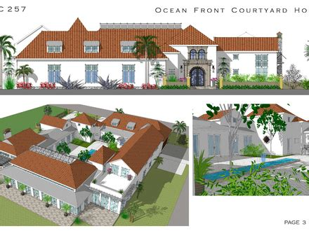 spanish revival house plans with courtyards vacation home plans lakeside house floor plans oceanfront house plans treesranch com