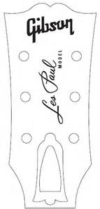 gibson les paul headstock template gibson headstock templates actual size pictures to pin on
