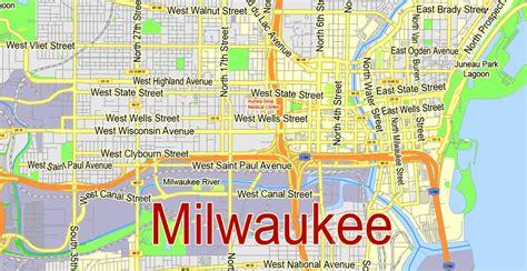 milwaukee on map milwaukee metro area printable map wisconsin us exact