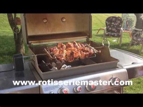 rotisserie weber genesis rotisserie chicken on weber genesis using rotisserie