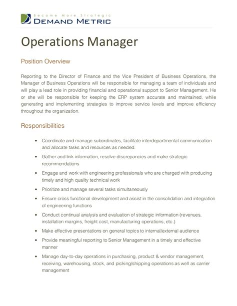 plant manager description plant manager description click here to this