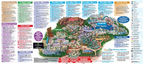 disney california adventure map disney california adventure map meet the magic