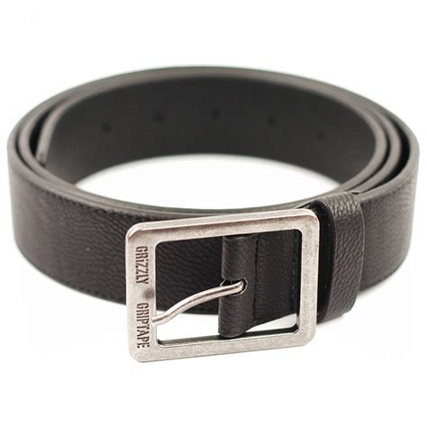 grizzly pebbled leather belt black forty two skateboard shop