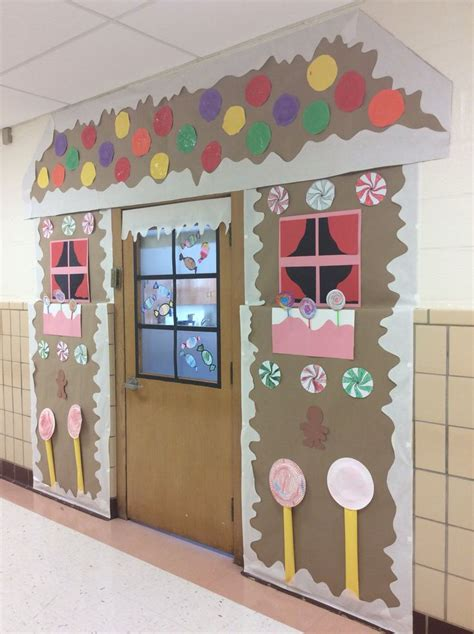 Gingerbread House Door by Gingerbread Kindergarten For Our Gingerbread Theme I